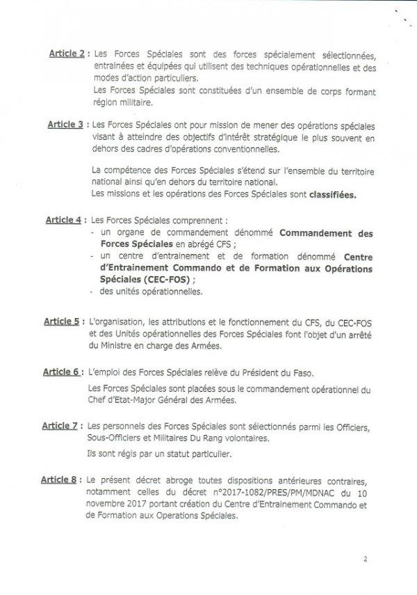 """BURKINA FASO : CRÉATION DES """"FORCES SPÉCIALES"""" AU SEIN DE L'ARMÉE."""