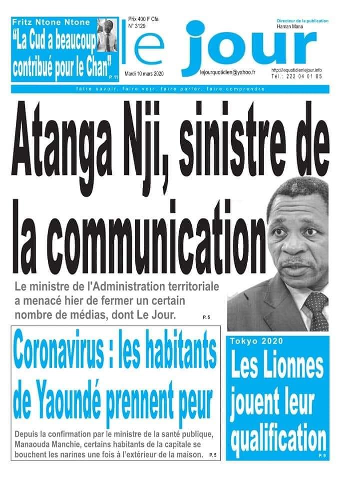 CAMEROUN: LA RÉDACTION DU QUOTIDIEN LE JOUR RÉPOND AU MINISTRE ATANGA NJI