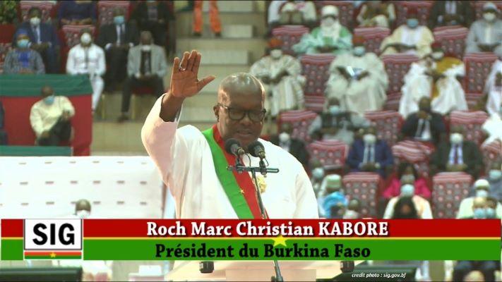 BURKINA FASO : LE PRÉSIDENT KABORÉ A PRÊTÉ SERMENT.