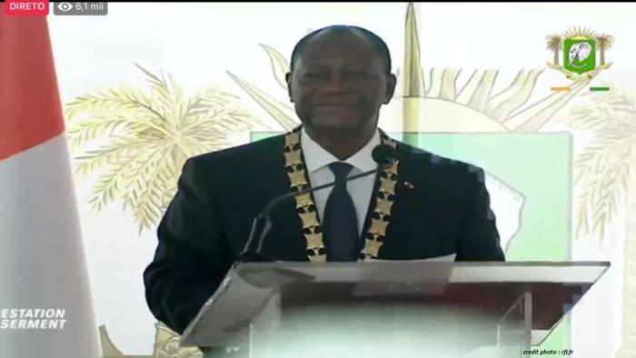 CÔTE D'IVOIRE : LE PRÉSIDENT OUATTARA A PRÊTÉ SERMENT.