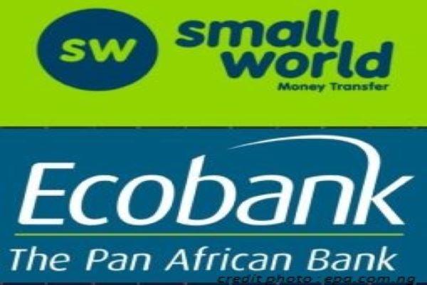 TRANSFERTS DE FONDS : UN PARTENARIAT CONCLU ENTRE ECOBANK GROUP ET SMALL WORLD.
