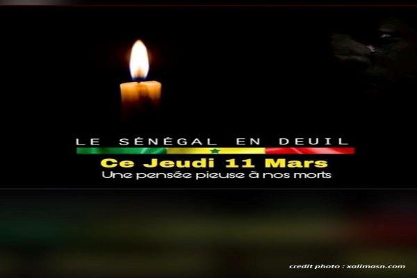 SÉNÉGAL : JOUR DE deuil NATIONAL.