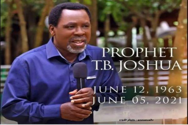 """NIGERIA : LE CÉLÈBRE """"PROPHÈTE"""" TB JOSHUA EST DÉCÉDÉ À 57 ANS."""