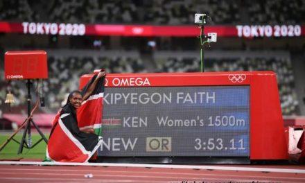 JO 2020 – 1500 MÈTRES : LA KENYANE FAITH KIPYEGON CONSERVE SON TITRE.