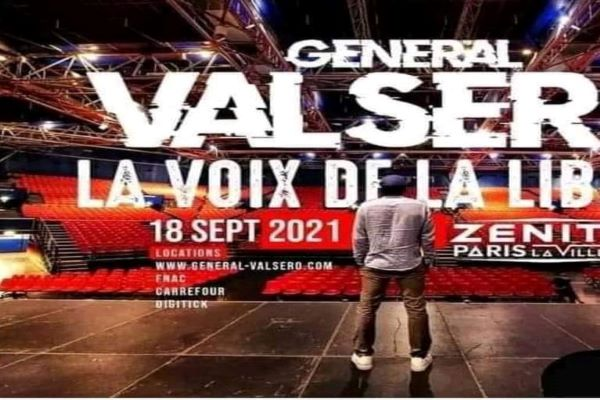 CAMEROUN : LE RAPPEUR VALSÉRO EN CONCERT AU ZENITH DE PARIS LE 18 SEPTEMBRE 2021.