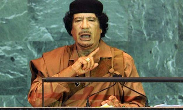 MOUAMMAR KADHAFI : SUR LA TRIBUNE DE L'ONU, LE 23 SEPTEMBRE 2009…